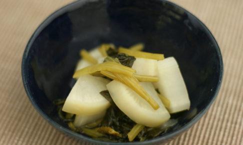大根と小松菜のさっと煮