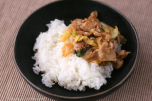 豚バラの丼レシピ